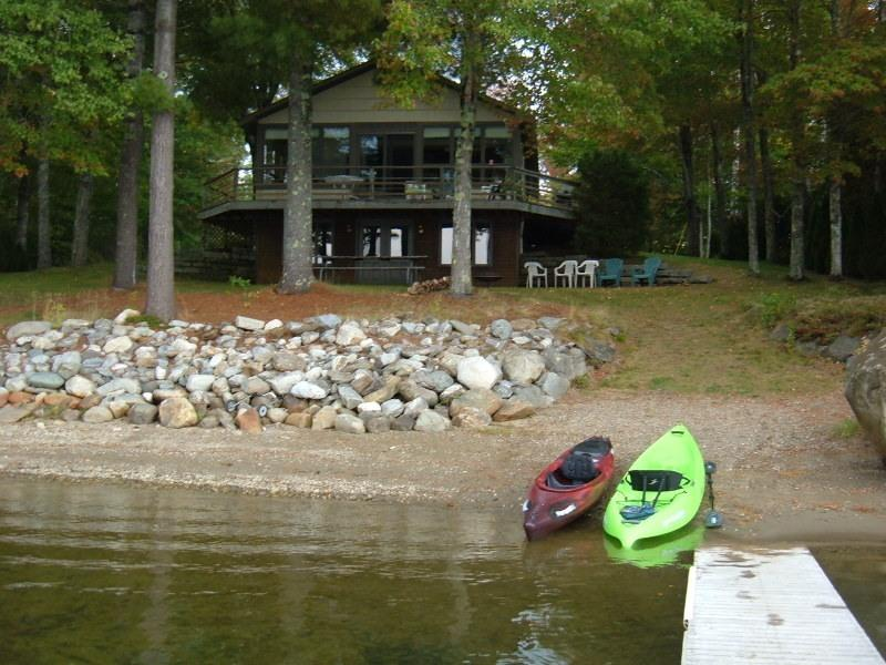 Lake House with  Kayaks View from dock