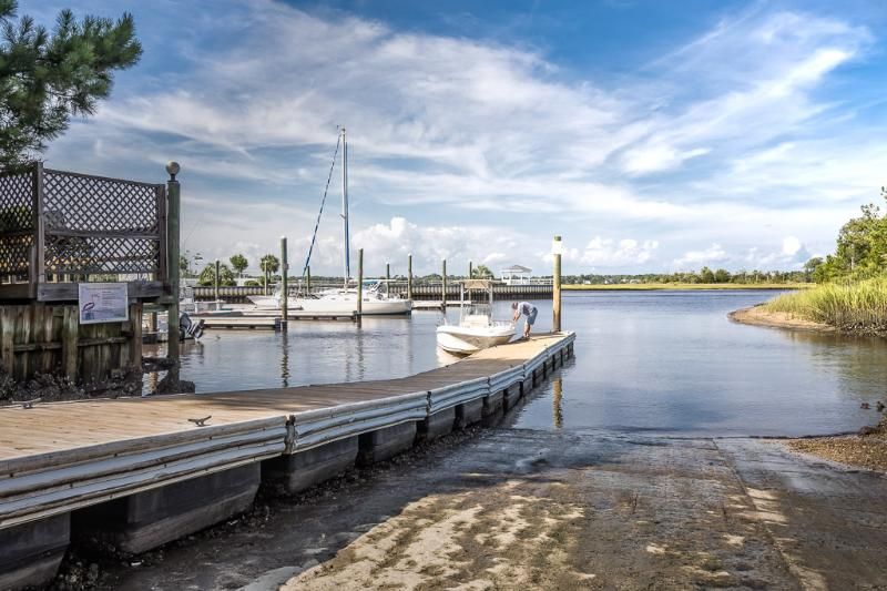 Boat dock within walking distance