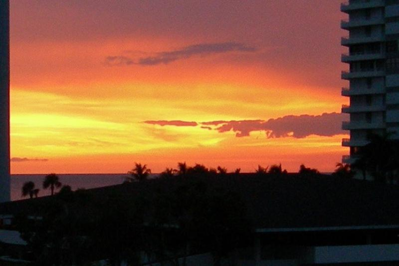 View Fabulous Sunsets from our Balcony