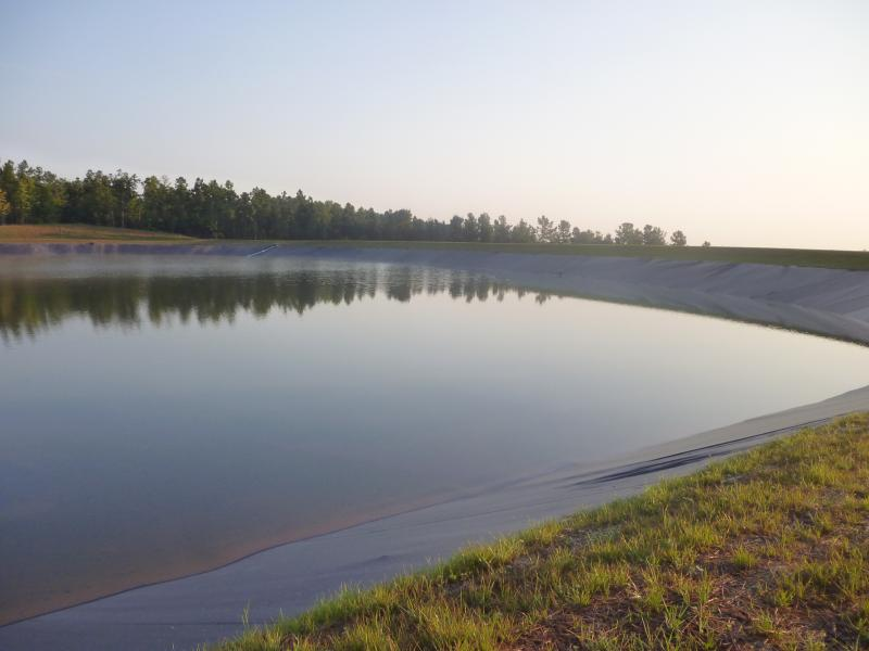 Lake almost completed in subdivision