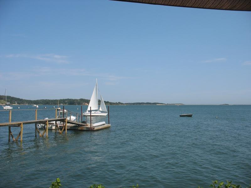 Sailing past the Boathouse.