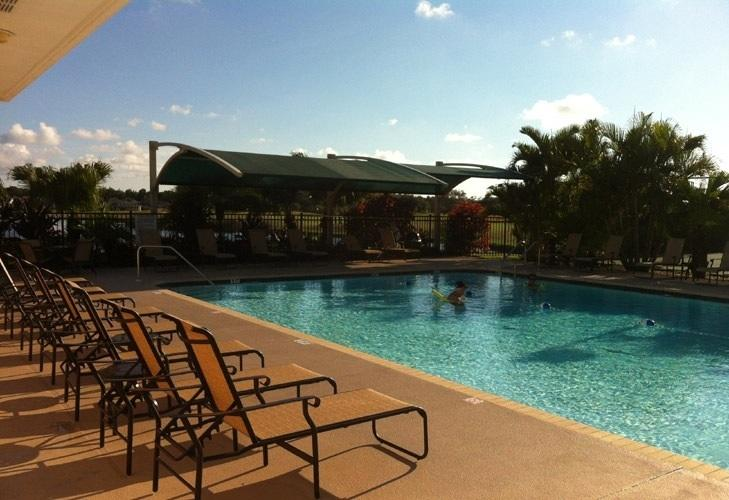 Our heated community pool, in addition to our private pool