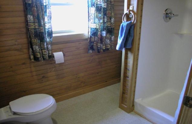 Otisco Log Cabin Shower Room