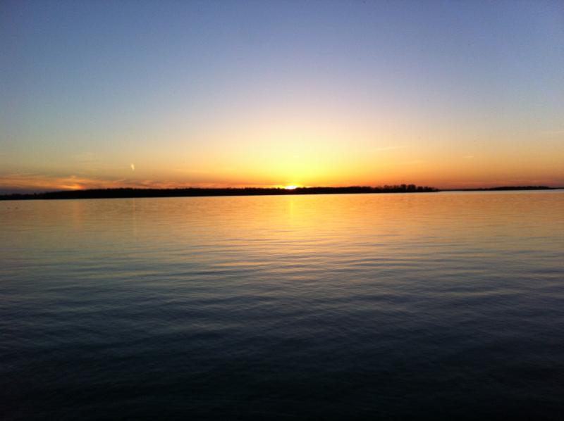Sunset across Lake Simcoe