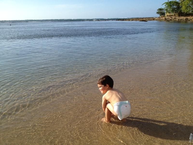Very shallow beach perfect for smaller children ...just 15-20 steps from villa!