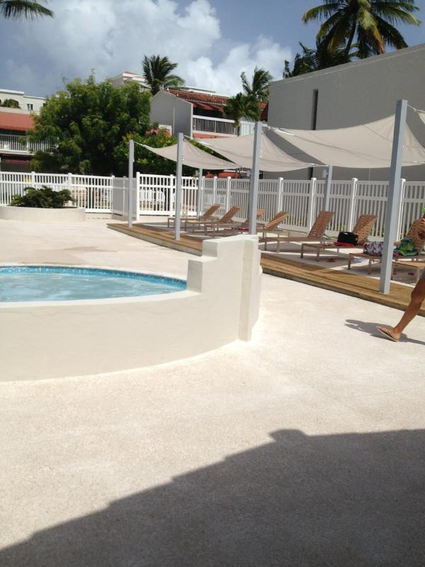 Children's pool...comfortable sitting area inside pools area.