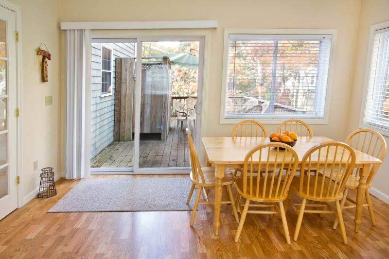 Attached Deck Equipped With Gas Grill, Additional Dining & Enclosed H/C Shower