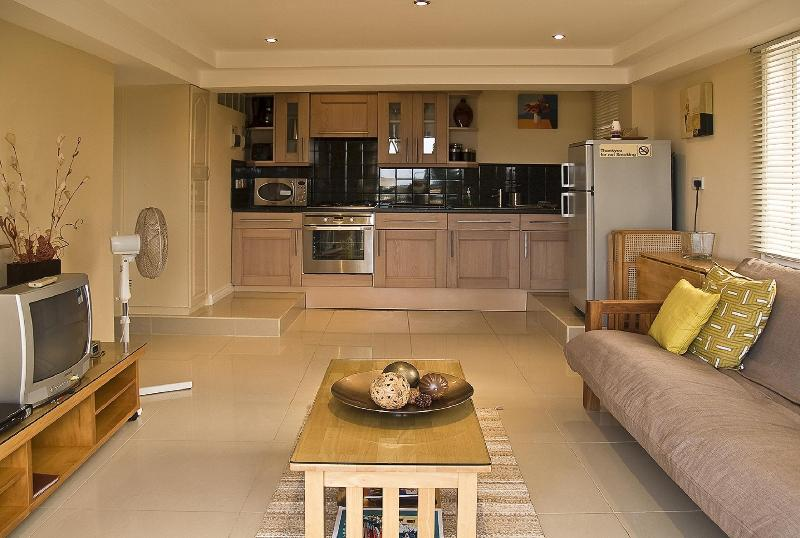 Modern & stylish living area with Italian fully fitted kitchen.