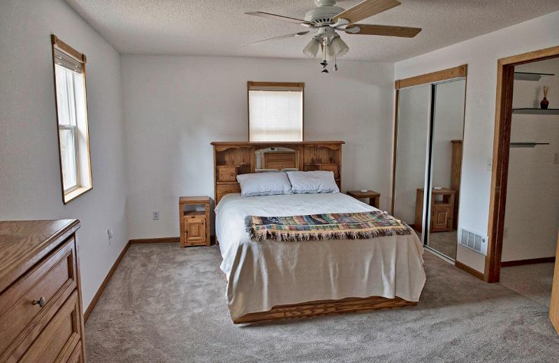 The comfortable second bedroom offers a queen-sized bed.