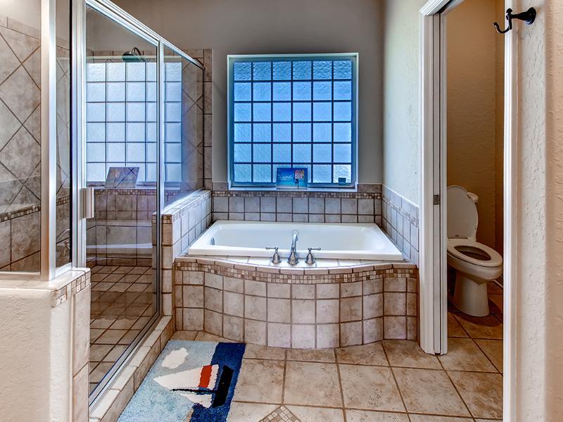 Imagine soaking in this giant tub.