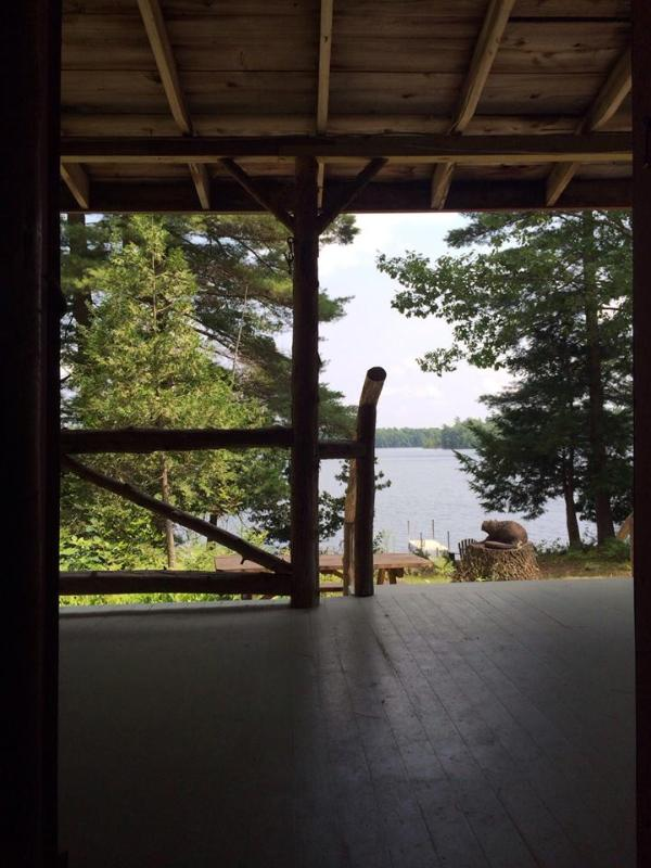 View from porch of main cabin