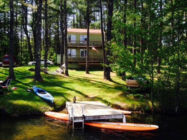 Adorable camp rental on the water in Maine. Swim, boat and relax in Maine.