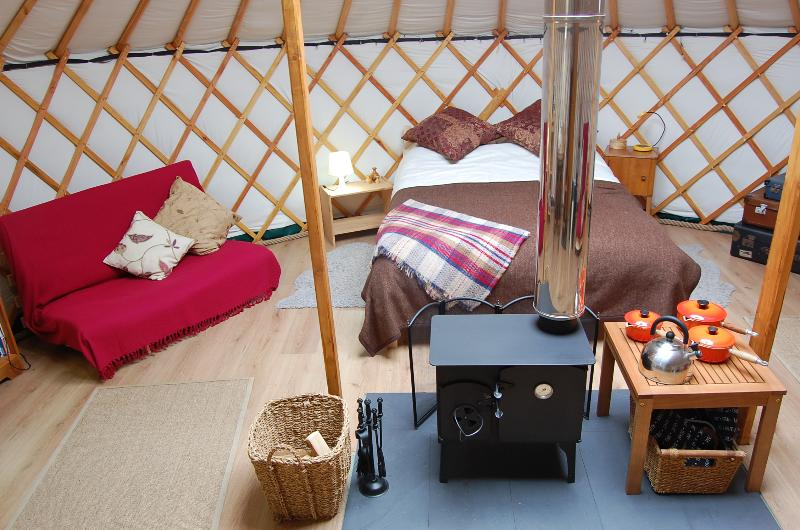 Interior of one of our luxury Yurts