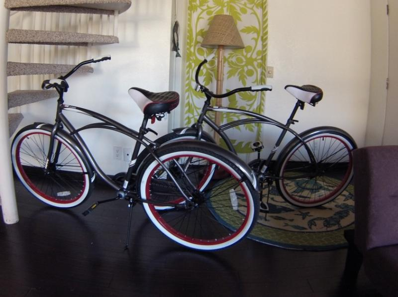 Optional Huffy beach bike rental for two...