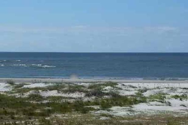 View of beach from first floor deck.