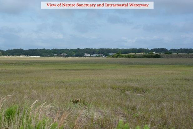 View of nature sanctuary and Intracoastal Waterway