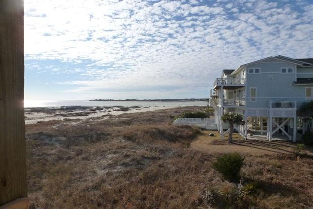 Side view of Inlet and Ocean Isle Beach from the deck.