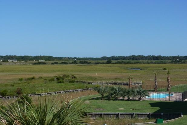 View from first floor deck street side over looking Intracoastal waterway