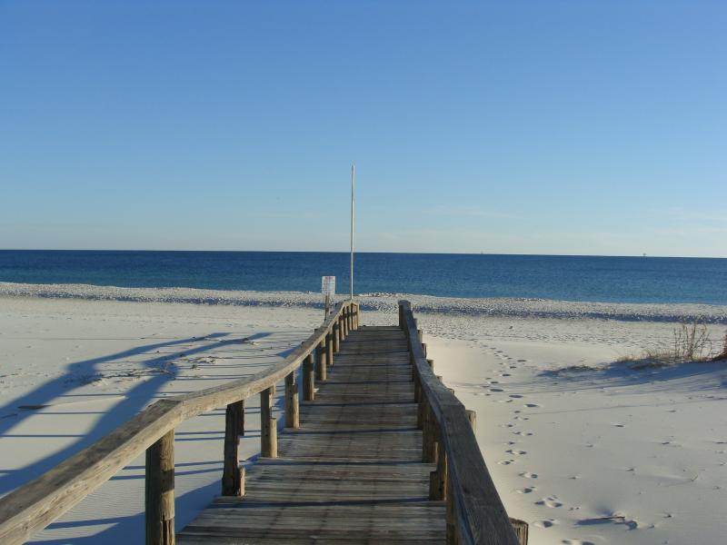 beach in front of the Gulf Shores Plantation