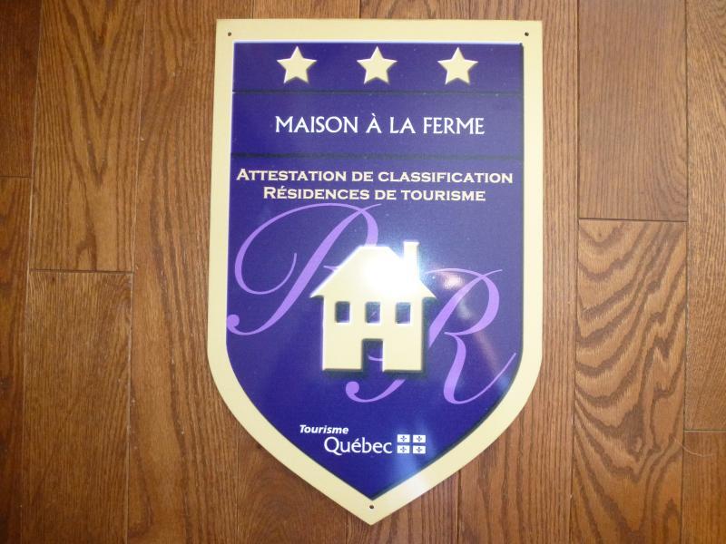 House Farm está classificado com 3 estrelas pelo Tourisme Québec