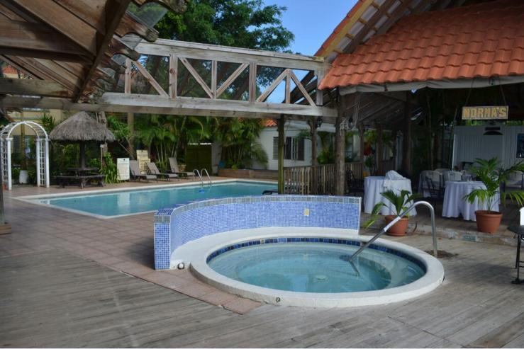 Jacuzzi en zwembad