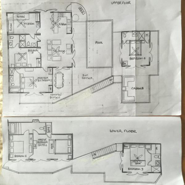 Floor plan showing independent areas for sunbathing, relaxing or dining alfresco