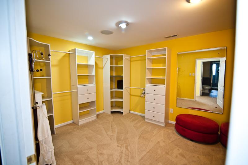 Master Walk-in closet as large as a small Bed Room!
