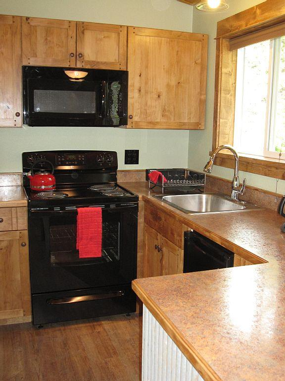 Custom cabinets in newly remodeled kitchen.