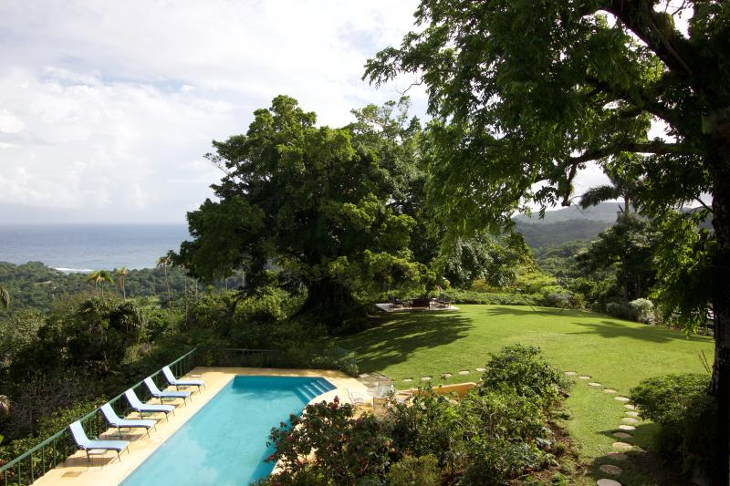 Panoramic views from Norse Hill Estate; peace, privacy in this beautiful garden