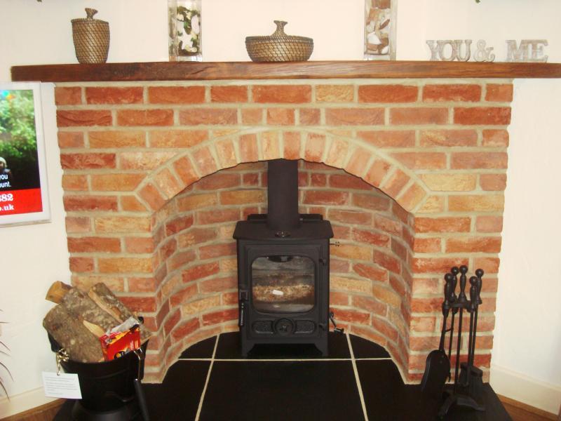 Wood burner in Snug room