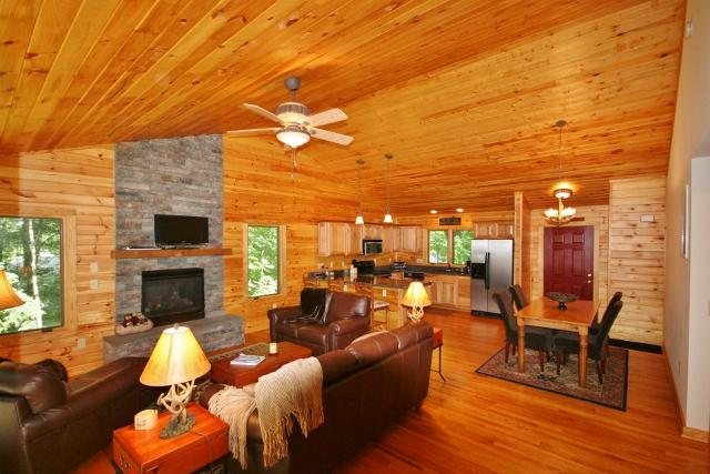 For your next mountain getaway, stay at this beautiful Wintergreen vacation rental home! You'll find the home's interior to be warm and inviting.