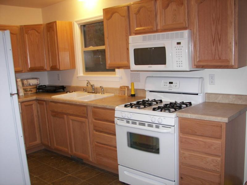 Full kitchen just bring food or shop locally 2 food markets and Walmart