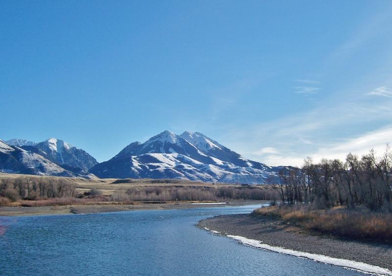 The property lies adjacent to the beautiful Yellowstone River.