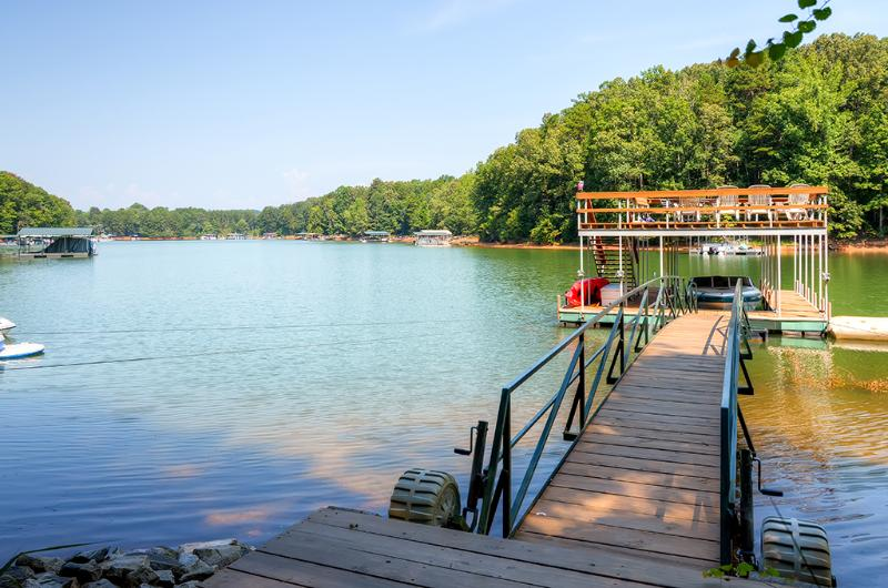 The lake views are sure to awe you during your stay at this vacation rental home