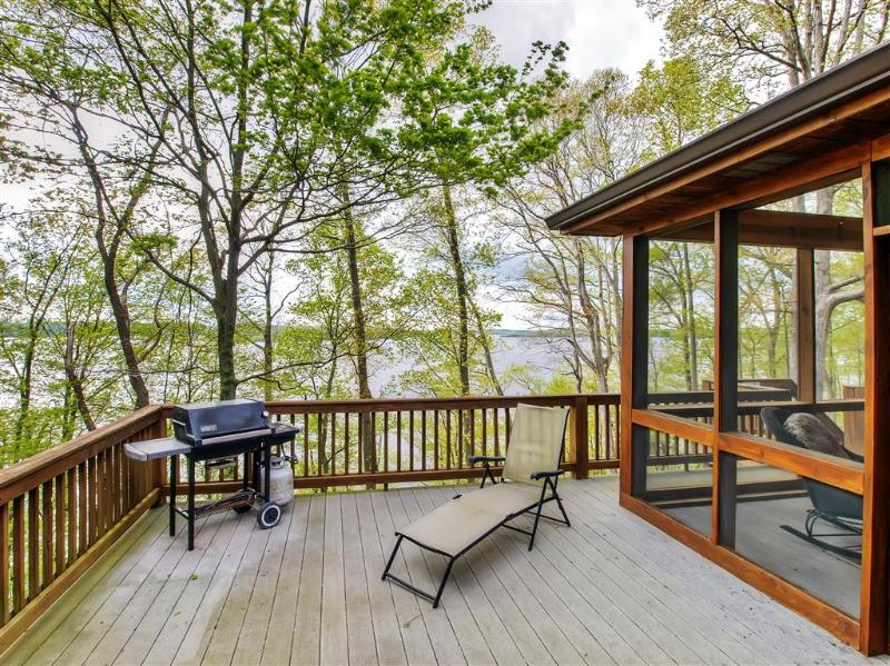 Unwind on the open deck and take in phenomenal views of the lake