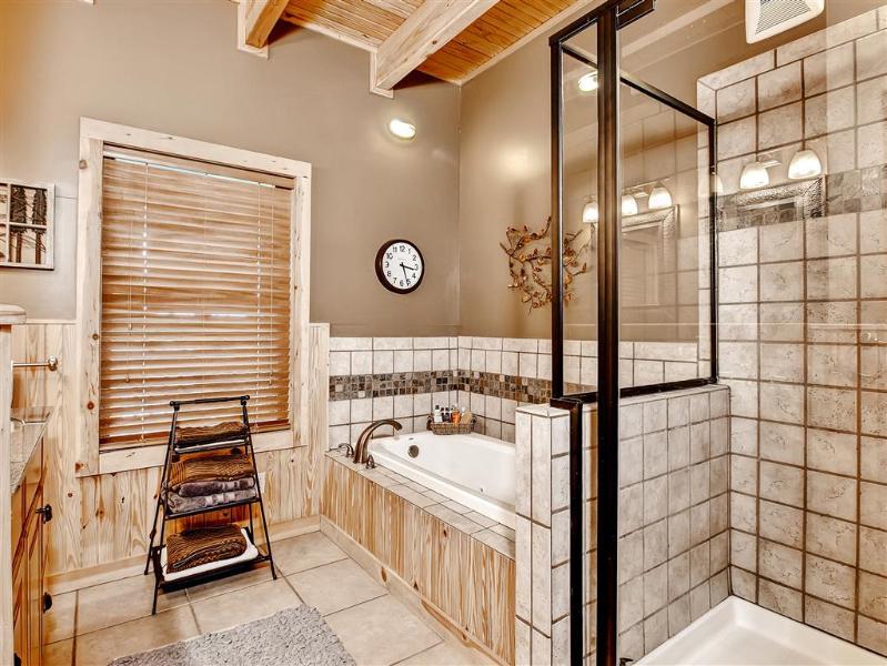 Soak your cares away in this deep soaking tub