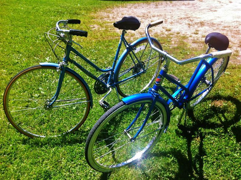 Vintage bicycles provided for you to get out and explore the area!