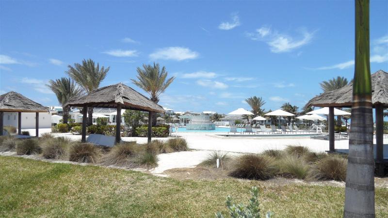 Mega Yacht Pool Tiki Huts