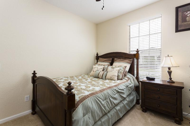 Bedroom 2 Queen bed,night stand, dresser, closet & TV