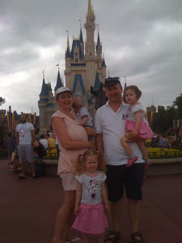 Our family visiting Magic Kingdom.