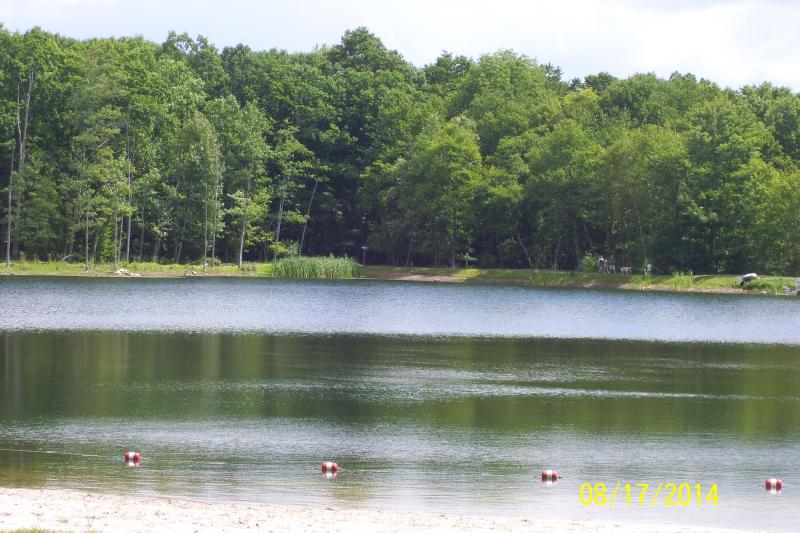 The Lake with beach area.
