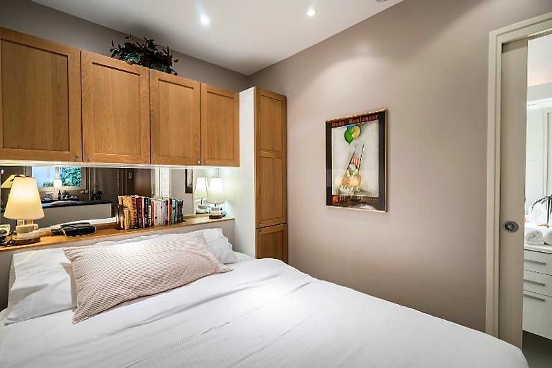 The Bedroom- Queen size memory foam bed- super comfy!