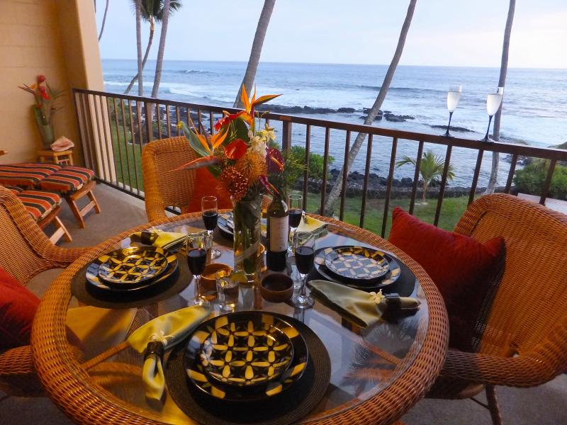 Stunning Dining Oceanfront View