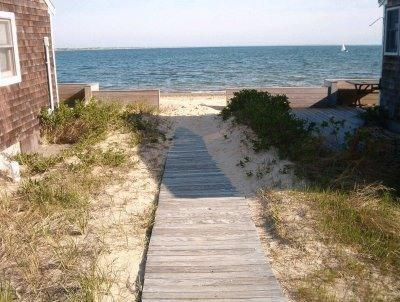 Steps to our private Sea Shells' beach