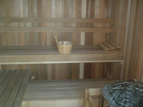 The sauna will relax every bone in your body