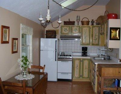 Full kitchen will all dishes and necessary cooking utensils.