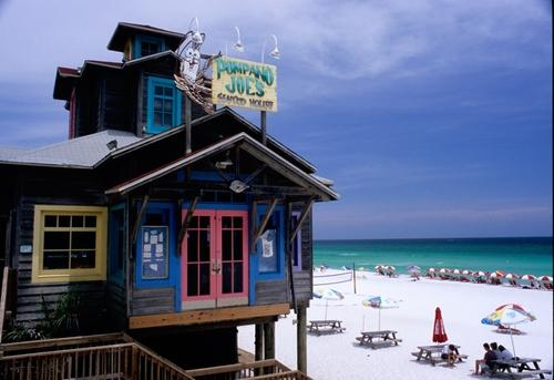 Pompano Joe's great seafood is just down the beach from us