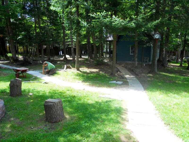 Path to bunkhouse