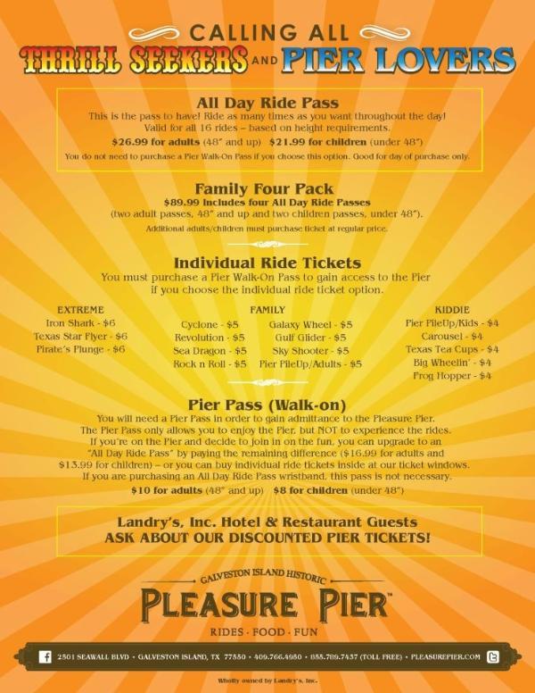 NOW OPEN!  Galveston Island Historic Pleasure Pier