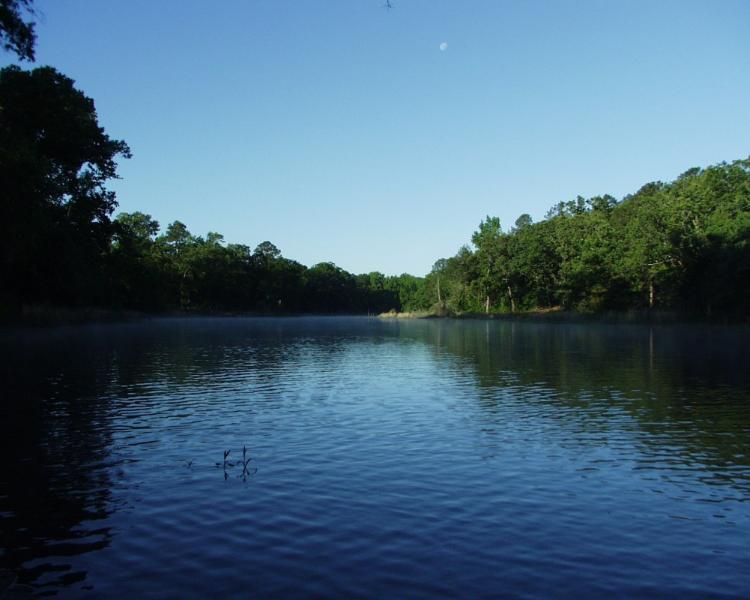 Miller Lake a natural oxbow lake in S.E. Oklahoma. Romantic, private, beautiful!